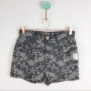 Urban outfitters floral black motif shorts sz 29W